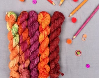 Citrus mini-skein set - Ready to ship