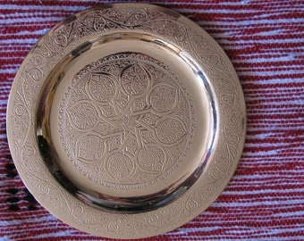 New Oriental Moroccan  Brass Tray Foldable Arabian Orient Handcrafted 20CM Diameter
