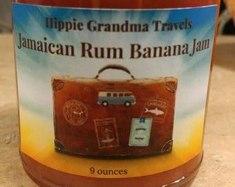 Handmade Organic Jamaican Rum Banana Jam