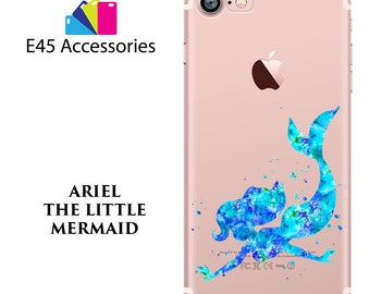 ARIEL The Little Mermaid Disney Watercolour Hard Case for iPhone 5S 5 SE, iPhone 6S 6 or iPhone 7