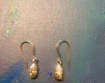 Buddha earrings, Silver plated
