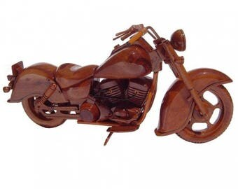 Indian Motorcycle Wooden Model - Made of Mahogany Wood