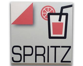 Spritz - Sign, bar sign, italian sign, shop sign, restaurant sign, food sign, kitchen sign, pub sign | Tropparoba - 100% made in Italy