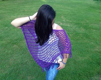 Purple Summer Shawl