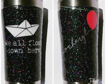 Stephen King It Inspired Glitter Tumbler