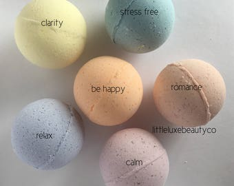 Aromatherapy Bath Bombs | essential oils | relaxing | soothing | bath bomb | handmade