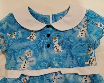 Three Tier Skirt Dress | Frozen Olaf or other licensed characters