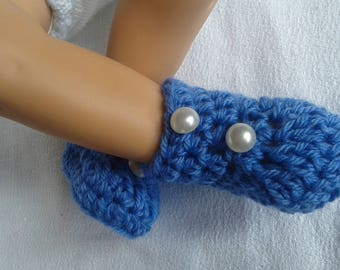 blue baby booties for newborn baby booties