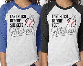 Baseball Bachelorette Hitched Shirt