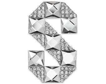 Letter S Iron-on Rhinestone Applique