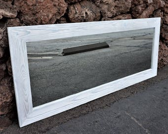 White mirror/ floor mirror/ full length mirror/ bathroom mirrors/wall mirrors