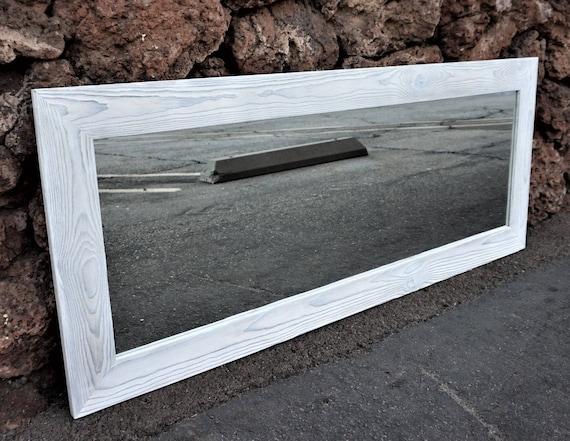 White mirror floor mirror full length mirror bathroom for Shattered mirror bathroom floor