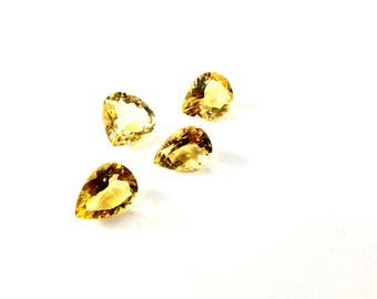 Citrin faceted gemstone 11 to 12mm