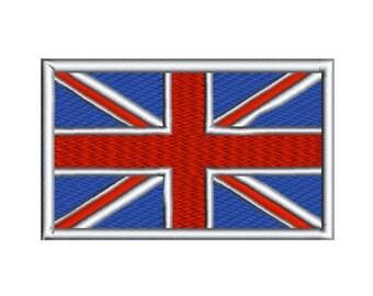 Flag of the United Kingdom Machine Embroidery Design Union Jack British UK Digital Instant Download  Hoop Size 4x4