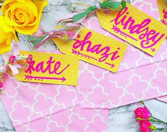 Personalized Gift Tags + bags