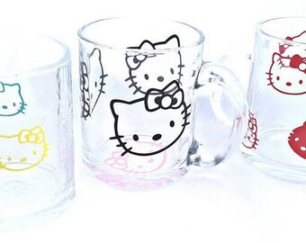 Cute Hello Kitty Decals for clear glass ( 20 decals )