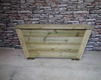 Chunky Sloping Edged Garden Storage Bench