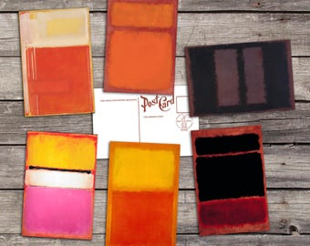 Mark Rothko set 6 postcards | mark rothko | rothko 1960s art | rothko abstract art | mark rothko art | rothko abstracts | rothko poster |
