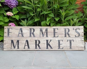 Pallet wood FARMER'S MARKET sign vintage replica distressed