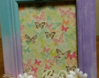 Mixed media altered picture frame
