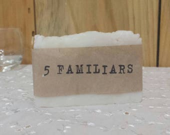 "All natural bacteria busting ""5 Familiars "" Soap"