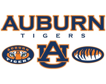 Auburn Tigers svg, American football svg, University svg files for cricut, svg for silhouette, vector cut files, svg png eps dxf