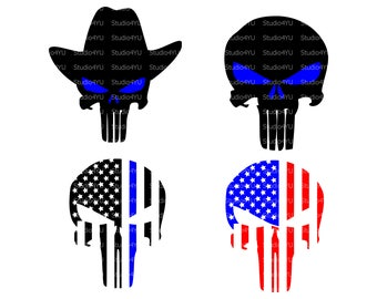 Police Punisher svg Police svg American Flag svg Police American Flag Punisher svg Skull svg files for cricut svg files for silhouette dxf