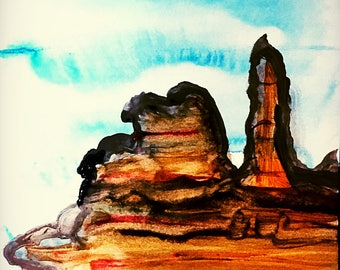 2 Bryce Canyon watercolors