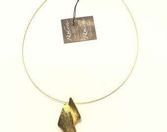 Gold-plated brass necklace 80000510
