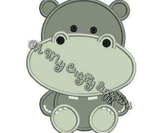 Hippo Applique Design