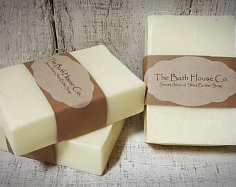 Sweet Almond Soap, Moisturizing Shea Butter Bar Soap