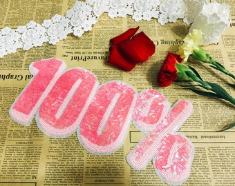 100% pink patch/number patch/sequin patch/large patch/shining patch/girl patch/DIY