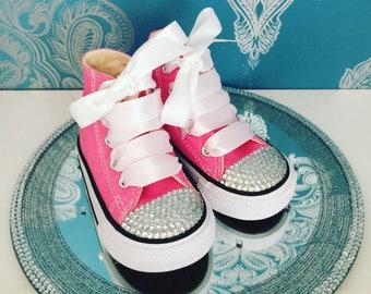 Pink crystal converse