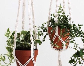 Spiral Macramé Plant Hanger - TWOHANDS