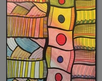 Abstract Painting Original Art  -Conveyance