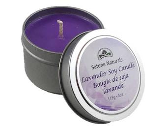 Soy Candle - Lavender EcoSoya Candle - 4oz