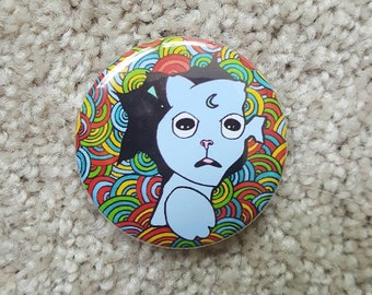 Psychedelic cat pin