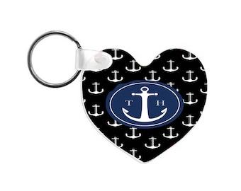 Tom Hope anchor Logo new heart shaped wooden keychain