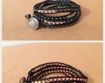 5 Wrap Beaded Bracelet