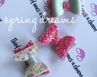 Spring Dreams Bow Collection- clips or headbands for newborn, baby girl, toddler girl, big girl