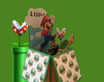 Super Mario Brothers Pop Up Box Card