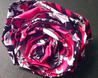 Fabric Rose Barrette Betty Boop