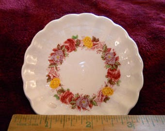 Vintage Spode Butter Pat Plate Rose Briar Pattern Sabby Chic Collectable