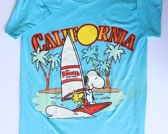 70's 80s Snoopy California T-Shirt - Knott's | Size S