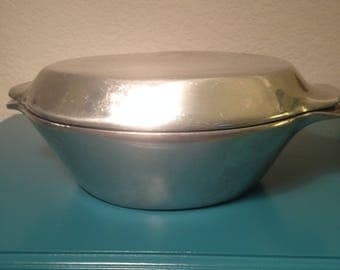 Nambe' 20 heavy cast aluminum casserole with lid