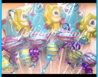 Monsters Inc Party Combo (Birthday, baby shower, monsters inc lollipop, monsters inc cake pops)