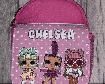 Personalised LOL Surprise lunchbag, Packed lunch bag, Packed lunch box, School lunch bag