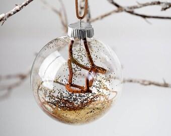 Brown Halter Christmas Ornament