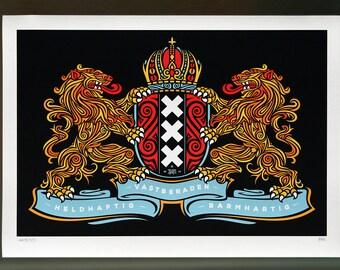 Amsterdam Coat of Arms - Art Print