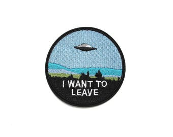 Iron on patch, UFO patch